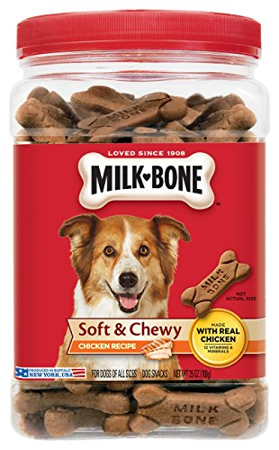 - Milk-Bone Soft and Chewy Chicken Bones Treats For Dogs (25 oz)