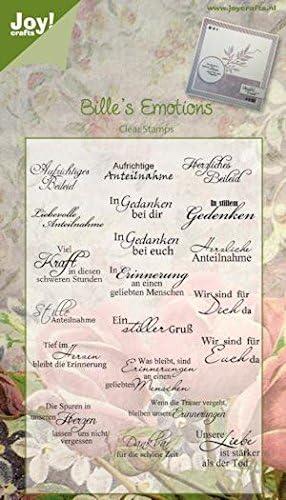 Joy! Crafts bille de Emotions Clear sello 325, juego de 20 sello,