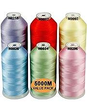 New brothread Polyester Machine Borduurgaren Enorme Spoel 5000M voor Alle Borduurmachines