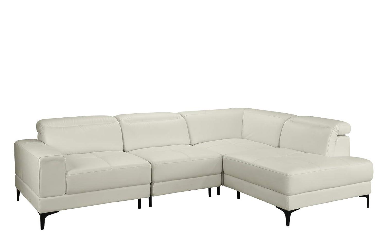 Amazon.com: Large Modern Leather Sectional Sofa, Living Room ...