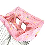 Shopping Cart Cover | High Chair and Grocery Cart Cover for Babies, Kids, Infants (Pink Fish)