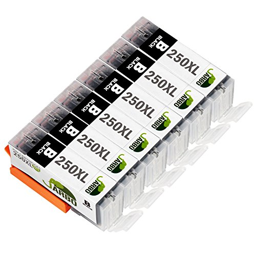 JARBO PGI-250XL Ink Cartridges (6 Big Black) Compatible for Canon PIXMA MX922 IP7220 IP8720 IX6820 MG5420 MG5422 MG5520 MG5522 MG5620 MG6320 MG6420 MG6620 MG7120 MG7520 MX722 Printer