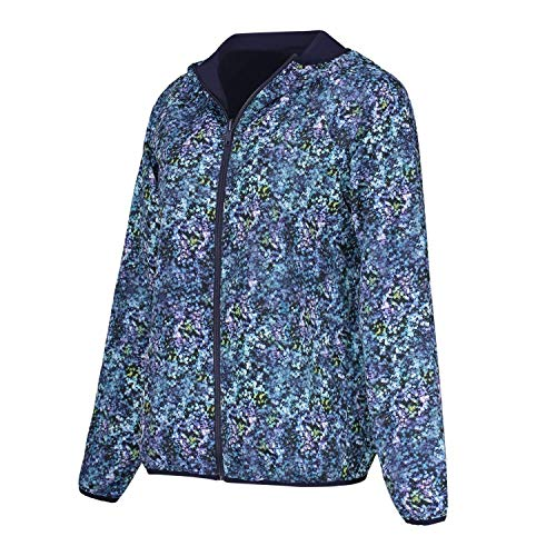 Jacket Reversible Track - Women's Workout Reversible Zip-up Printed Track Yoga Jacket Full Zipper Long Sleeve with Hood