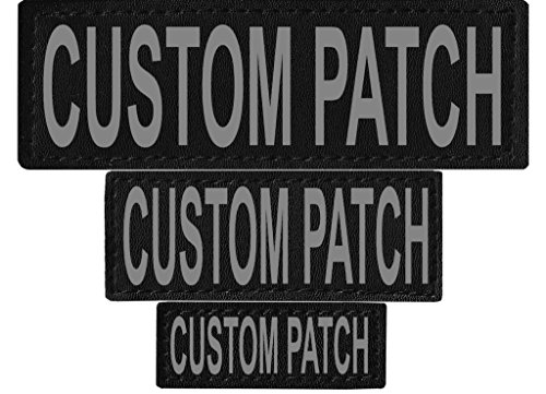 Dogline Custom Removable Patches with Velcro Brand Backing and 3M Reflective Lettering for Harness, Vest or Collar - Service Dog, in Training, Therapy Dog, Do Not Pet, PTSD or Personalized