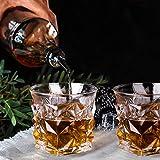 Whiskey Glasses Set of 2, Kollea Whiskey Stones Set