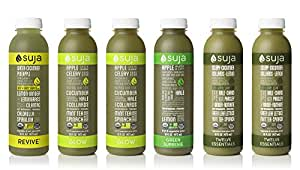 Suja Juice, Organic, Cold-Pressed Green Juice Pack, (Pack of 6)