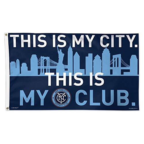 WinCraft Soccer New York City FC 01755215 Deluxe Flag, 3' x 5' ()