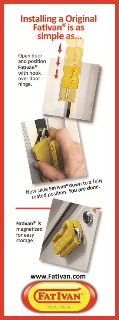4 Length x 2 Width x 1 Height FatIvan FIBM Black Plastic and Zinc Plated Steel Lightweight Fold Up Door Chock with Magnet