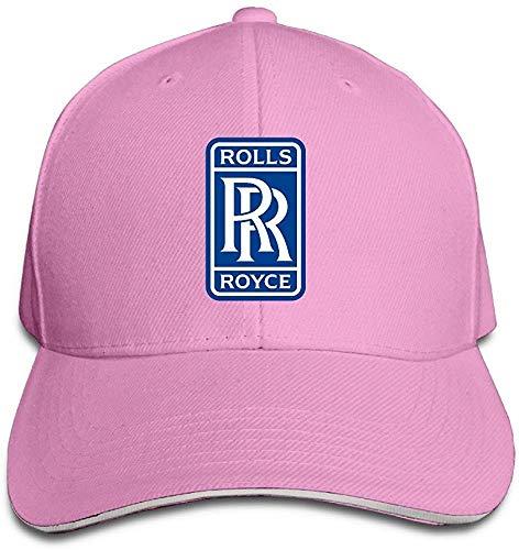 Hittings Rolls Royce Logo Snapback Adjustable Flat Baseball cap//Hat Black