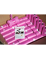 700 Pet Waste Bags, Dog Waste Bags, Bulk Waste Bags on a roll, Clean up Waste Bag Refills - (Color: Pink) + Free Bone Dispenser, by Pet Supply City LLC