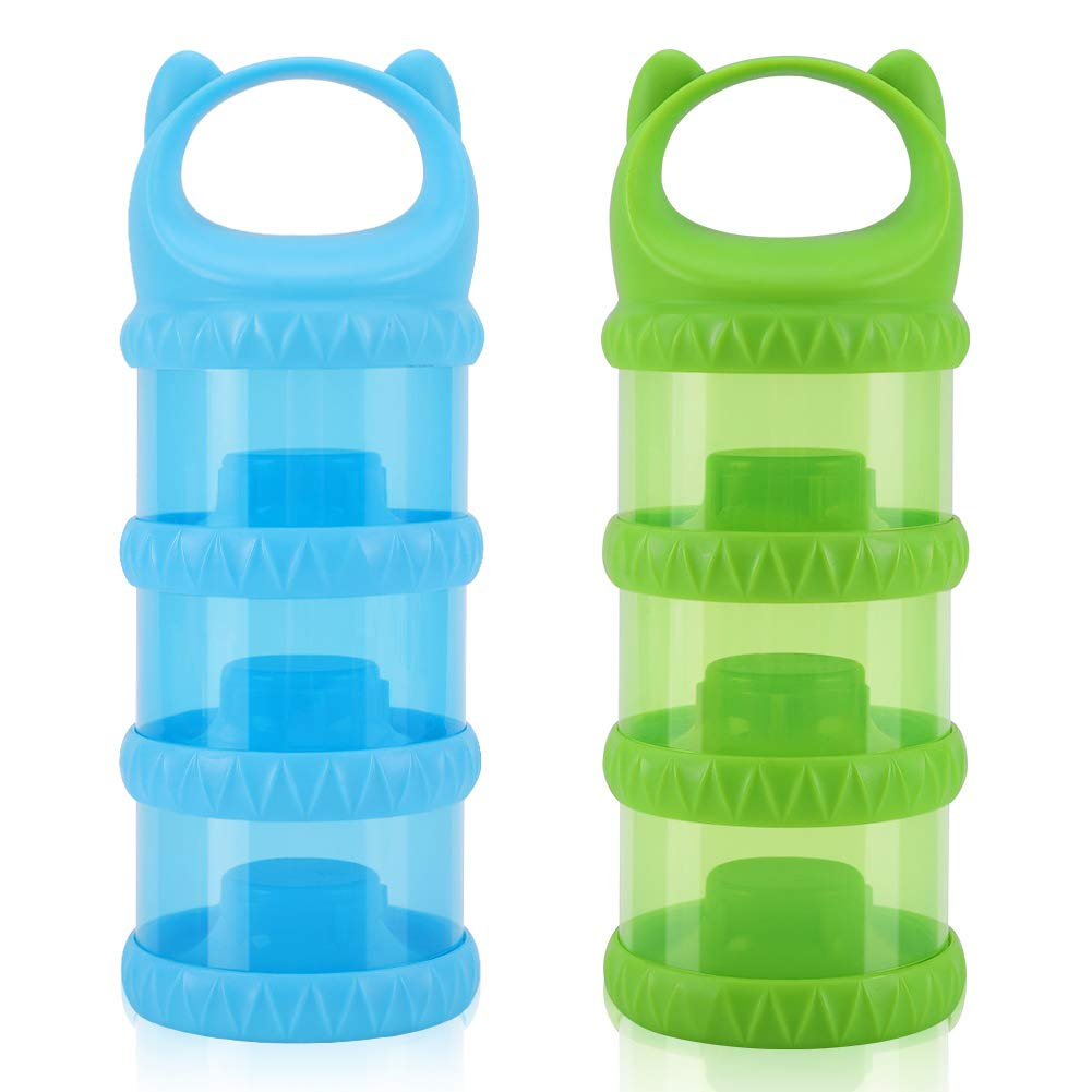 Accmor Formula Dispenser, Portable Milk Powder Container, Stackable Formula Dispenser, Baby Food Storage Container for Travel, BPA Free, 2 Pack