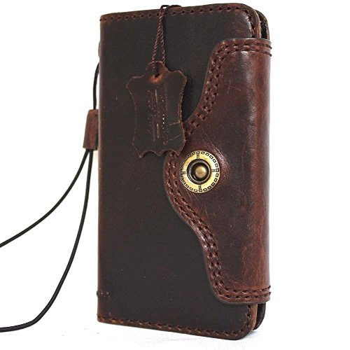Genuine Italian Vintage Leather Hard Case for Iphone 6s Book 4.7 Inch Wallet Handmade S Luxury Handmade Magnet