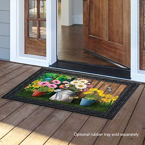 Briarwood Lane Spring Jubilee Floral Doormat Watering Can Indoor Outdoor 18 x30