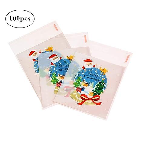 Hosaire 100 Piezas Bolsa de plástico árbol de Navidad ...