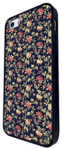 563 - Vintage Shabby Floral Roses Cute Design iphone SE - 2016 Coque Fashion Trend Case Coque Protection Cover plastique et métal - Noir