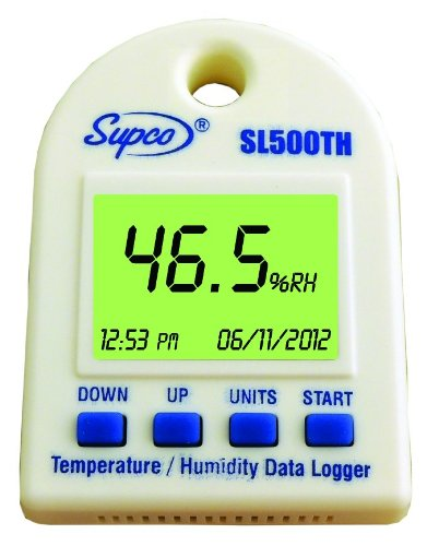 Shipping Temperature Data Loggers : Supco sl th temperature and humidity data logger with