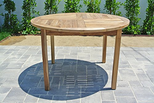 Willow creek designs round teak dining table 48 w x 48 for Willow creek designs