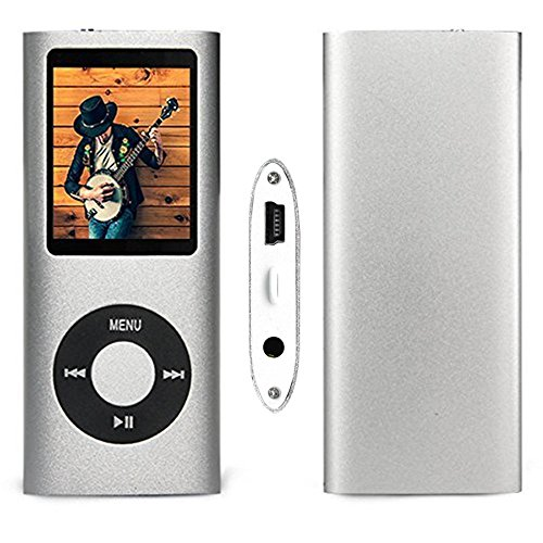 G.G.Martinsen 16 GB Mini Usb Port Slim Small Multi-lingual Selection 1.78 LCD Portable Mp3/Mp4, Mp3Player , Mp4Player , Video Player , Music Player , Media Player , Audio player With Photo Viewer , E-book Reader , Voice Recorder ,Games & Movie-Silver