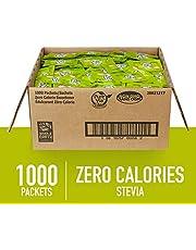 PURE VIA Stevia Sweetener Packets, Sugar Substitute, Natural Sweetener, Zero Calorie Natural Sweetener Packets, 1000 Count