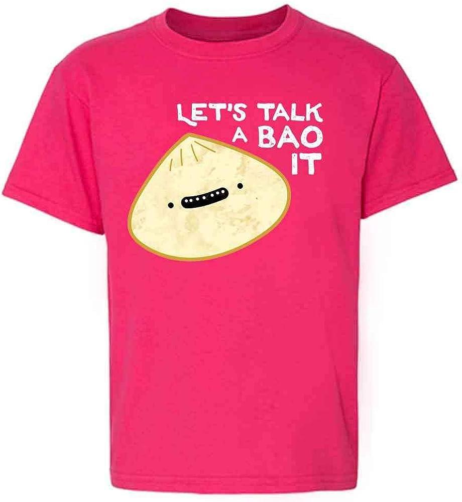Pop Threads Lets Talk A Bao It Funny Dumpling Cute Food Toddler Kids Girl Boy T-Shirt