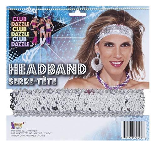 Forum Novelties Womens Silver Sequin Club Dazzle Flapper Disco Costume -