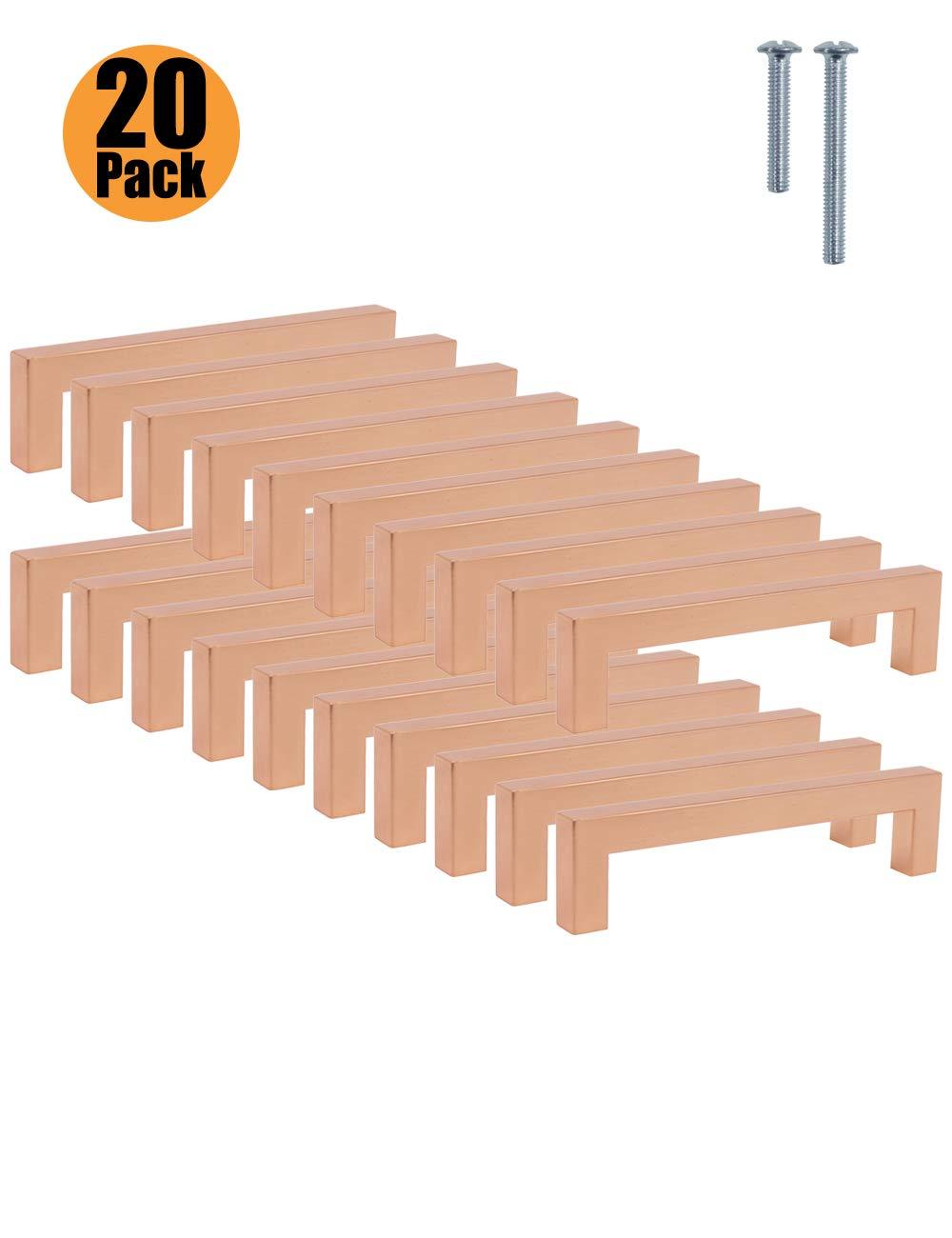 Breite 12 mm rosa PinLin T/ürgriffe Schubladen Ros/égold Edelstahl Schubladen Lochmitte Schubladen f/ür Schlafzimmer