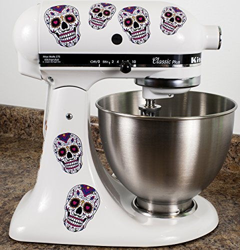 Sugar Skull Dios De Los Muertos Bakery Kitchenaid Mixer Mixing Machine Decal Art Wrap For Sale