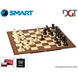 DGT SMART Board WI + Plastic weighted chess pieces + DGT PI chess computer + Carrying BAG - Elctronic chess set