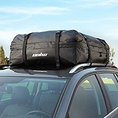 LUVODI Car Roof Bag Waterproof Rooftop Cargo Carrier Bag Car Top Storage Pack Box for Cars Vans SUVs Self-driving Tour Traveling Outdoor Camping - 15 Cubic Feet(425 Litres)