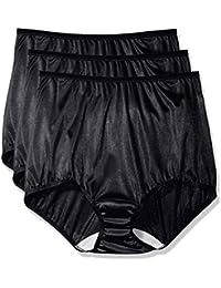 Women's Plus Size Panties-Nylon Brief (3 Pack)
