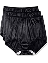 Shadowline womens plus-size Women's Plus-size Panties - Nylon Brief (3 Pack)