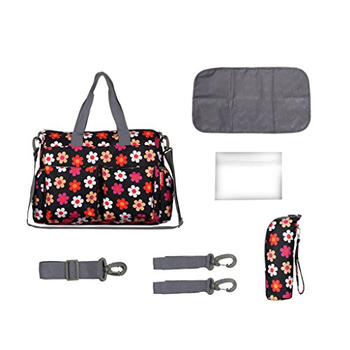 37x16x30cm Change And Bag Nappy Mummy Waterproof Black Black Travel White Bags Baby OBSPgZwFq
