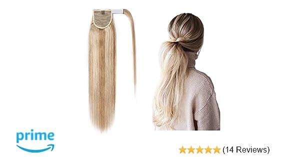 Ponytail Human Hair Extensions Wrap Around