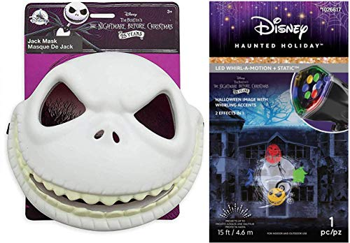 Whirl-A-Motion Static Nightmare Before Christmas Disney Jack Skellington Haunted Holiday Light Show Projection & Mask -