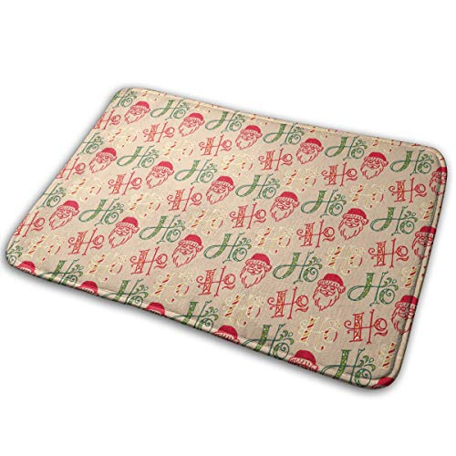 - Kui Ju Non-Slip Doormat Entrance Rug Fade Resistant Floor Mats Printable Christmas Shoes Scraper 23.6x15.7x0.39Inch