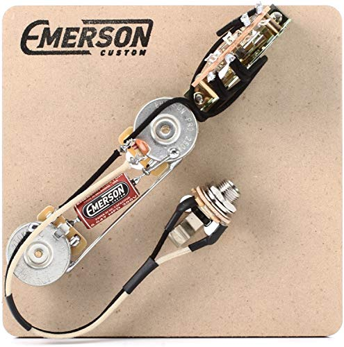 Emerson Custom 3-Way Prewired Kit for Fender Telecasters - 250k Pots (Best Wiring Harness For Telecaster)