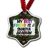 Christmas Ornament My best Friend a Shagya Arabian, Horse - Neonblond