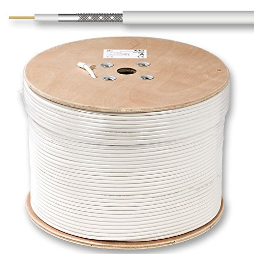 Fuba GKA 420 - Cable coaxial mini, color blanco, 500 m de ...