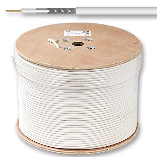 Fuba GKA 420 - Cable coaxial mini, color blanco, 500 m de ...