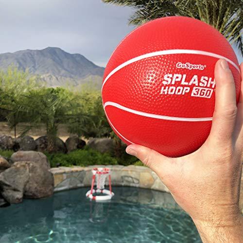 51aLMqKz3mL - GoSports Splash Hoop 360 Floating Pool Basketball Game | Includes Water Basketball Hoop, 2 Balls and Pump