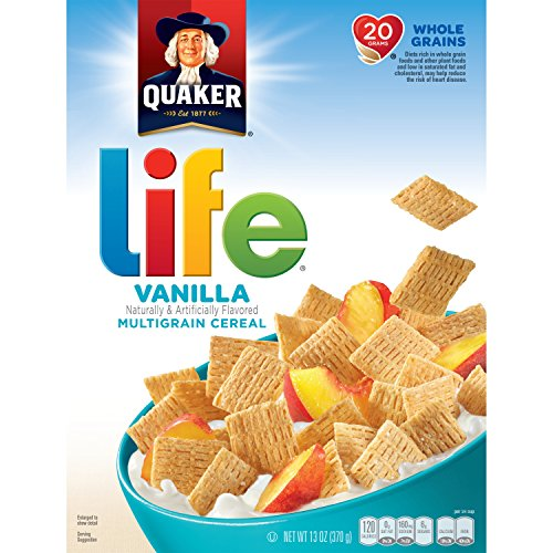 Quaker Life Cereal, Vanilla, 13 oz Box