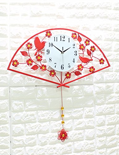SUNQIAN-The living room wall, Chinese modern minimalist garden creative wall clock, clock quiet bedroom,A by SUNQIAN