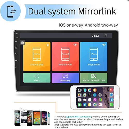 Polarlander 10 Pulgadas Android 81 Autoradio Bluetooth Universal 2 Din Radio De Coche Android Reproductor Estereo Navegacion Gps Wifi Bluetooth Reproductor Mp5 Con Camara De Vision Trasera Y Dvr