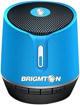 Brigmton BAMP-612-A - Altavoz portátil Bluetooth (reproducción de mp3, funcionamiento batería)