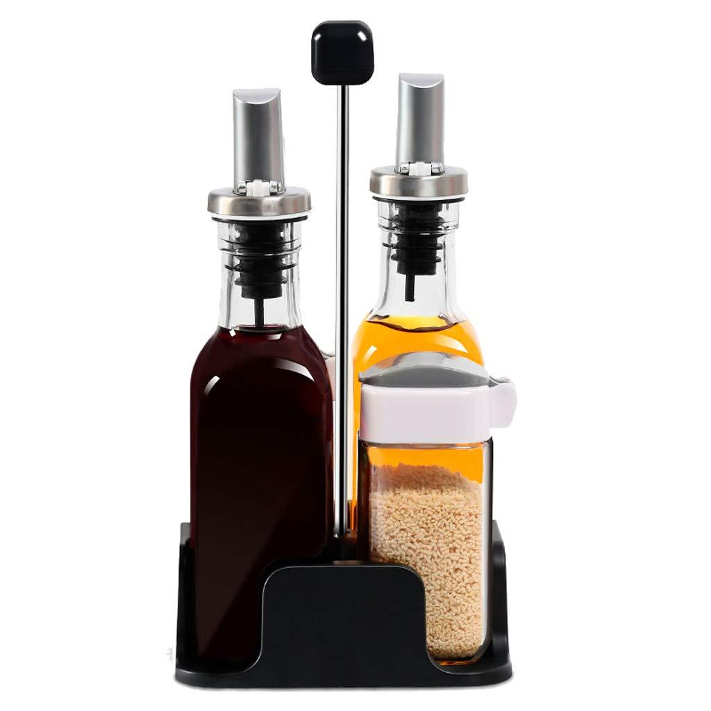 Goquik Kitchen Oil Pot Seasoning Box Set Combination Household Leak-proof Oil Vinegar Bottle Salt Shaker Bottle by Goquik
