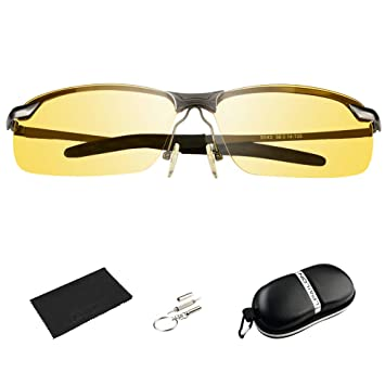 Bloomoak Driving Glasses HD Day /& Night Vision Polarized Safety Glasses for for