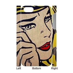 DIY High Quality Case for Iphone 4,4S 3D, Art Design Of Girl Phone Case - HL-R675042
