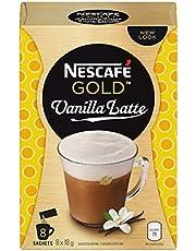 NESCAFÉ Gold Vanilla Latte Instant Coffee, 6 Pack, 48 Sachets