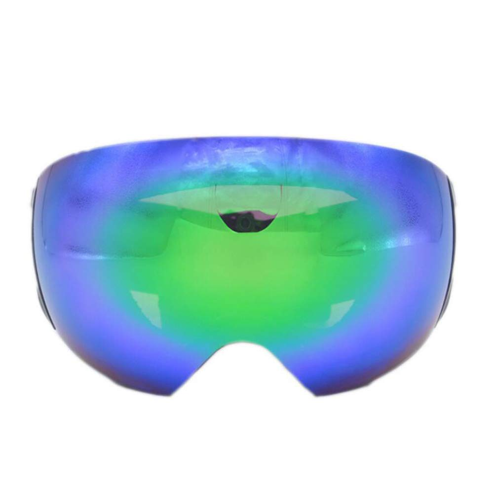 He-yanjing Skating Goggles ,Snowboarding Goggle ,Anti-Fog Jet Snow Skiing Skis Goggles ,Over Glasses Ski/Snowboard Goggles for Men, Women & Youth (Color : Green) by He-yanjing