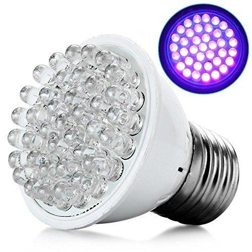 Fashion Outlet Ultra Bright E27 UV Ultraviolet 38LED Lamp Bulb 110V Color Purple Light